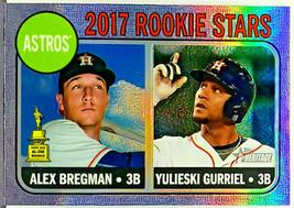"ALEX BREGMAN ROOKIE ""HOT BOX"" REFRACTOR  2017 TOPPS HERITAGE #113 YULI G... - $199.95"