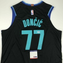 Autographed/Signed LUKA DONCIC Dallas Black Basketball Jersey PSA/DNA CO... - €268,49 EUR