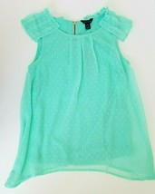 Tommy Hilfiger Girls Swing Blouse Top Lined Sleeveless Mint Size L 12/14... - $26.99