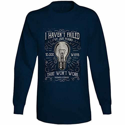 Tremendous Designs I Havent Failed Long Sleeve T Shirt L Navy