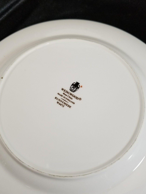 "Wedgwood Runnymede Blue Salad Plates 8.25"" (2) image 4"
