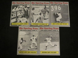 LOT OF 5 1970 TOPPS BASEBALL CARDS COMPLETE WORLD SERIES GAME #1 TO #5 E... - $14.99
