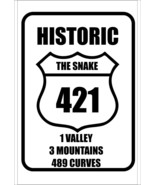 #26 US 421 | THE SNAKE | 489 CURVES | MOTORCYCLE | SPORTS CAR | SIGN - $10.29