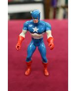 """1984 Marvel Comics 3.5"""" Captain America Hong Kong Figure Fully Possible ... - $11.87"""