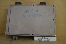 1998 Honda Civic CX DX LX AT Engine Control Unit ECU 37820P2EL82 Module 37 12I4 - $9.89