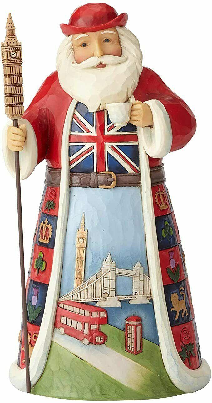 "Jim Shore British Santa Around the World Collection 7.1"" High Christmas Figure"