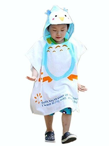 Cartoon Animal Series Soft Baby Hooded Bath Towel (12060CM) / Blue Penguin