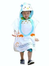 Cartoon Animal Series Soft Baby Hooded Bath Towel (12060CM) / Blue Penguin image 1