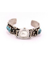 Vintage Navajo Sterling Silver and Turquoise Watch Cuff - $159.00