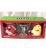 M&M's Mug Set Yellow Red Candy Chocolate Coffee Cups Mugs - $12.86