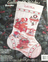 Bucilla Gallery of Stitches Country Christmas Stocking Counted Cross Stitch Kit - $32.31