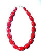 Necklace Banjara Amber Look Tribal Ethnic Resin India Handmade Vantage B... - $14.48