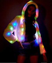 LED Jacket Light Up Rave Stage Faux Fur Coat image 3