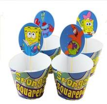 24pc SPONGEBOB Cupcake Warpper & toppers,Kids Party Favors(US SELLER) - ₨249.48 INR
