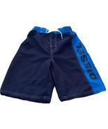Diesel Swim Trunks Board Shorts Youth Boys Size M 10/12 Blue Logo Polyes... - $12.16