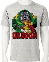 Dr. Doom Dri Fit graphic Tshirt moisture wicking superhero comic book SPF tee image 2