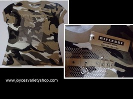Riflessi Camouflage Khaki Youth Shirt NWT SZ Small Free Shipping - $9.00