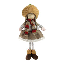 "15"" Standing Autumn Girl Gnome Scarf Pumpkin Hat Thanksgiving Figure- tk... - $34.95"