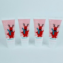 4X Avon Hand Cream Mini 1.5 oz Skin So Soft Signature Silk Formula Reindeer - $11.85