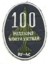 100 MISSIONS RF-4C North Vintage Vietnam Military Patch - $11.87