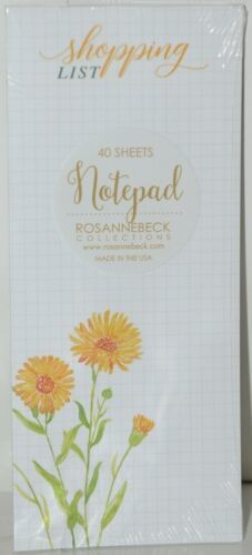 Rosanne Beck Collections 072 0396 Shopping List Dandelion Notepad 40 Sheets
