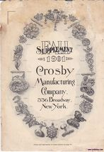 Vintage Illustratrated Jewelry Catalog Crosby 1901 - $15.99