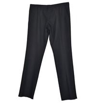 BOSS HUGO BOSS Mens Homer Cotton Wool Trousers 54 Black Grey Stripes - $55.14