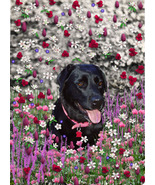 Abby in Flowers - Art Card, ACEO - $7.00
