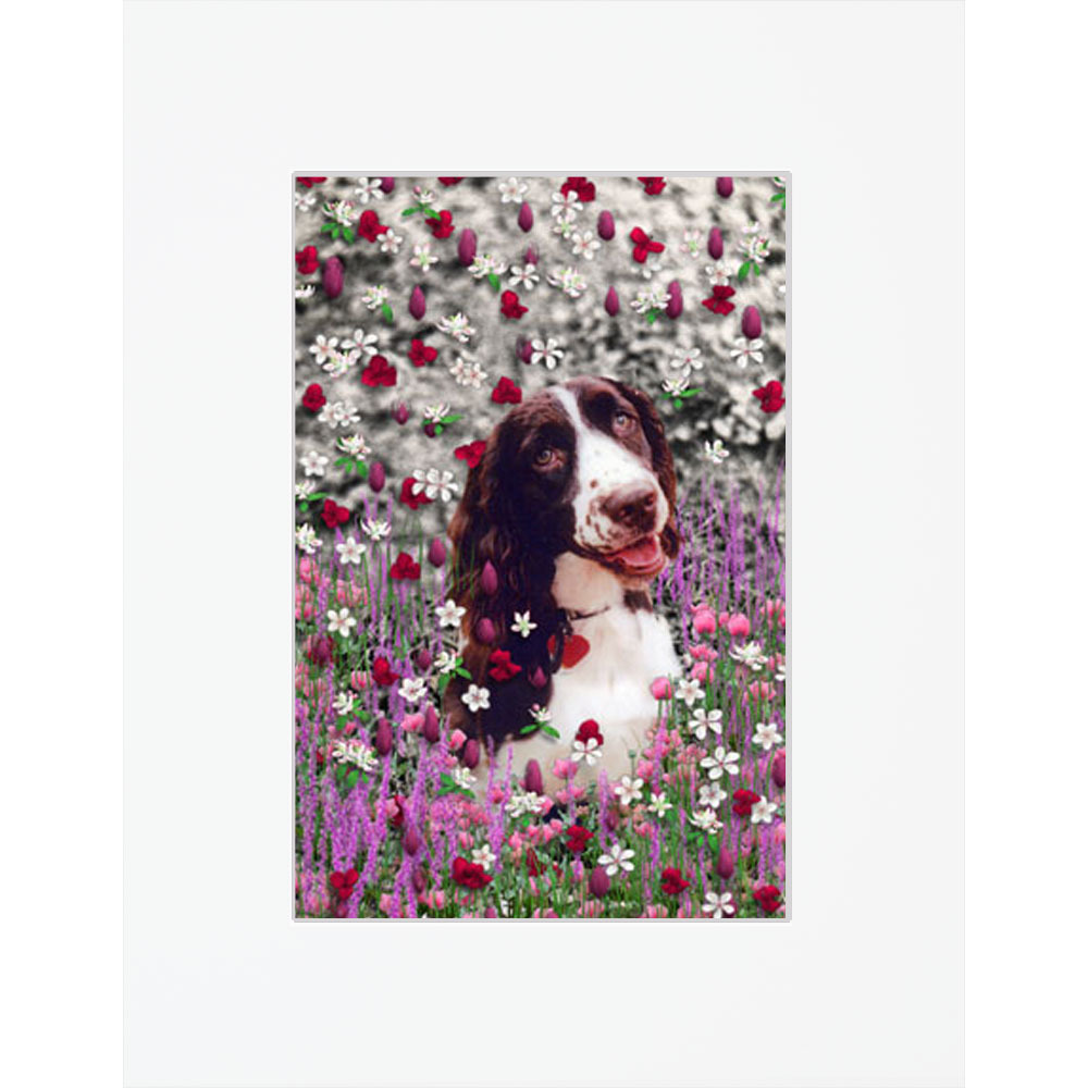 """Lady in Flowers - Matted 8x10"""" Fine Art Print"""