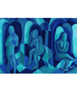 Reflections in Blue I - Art Card, ACEO Edition - $7.00