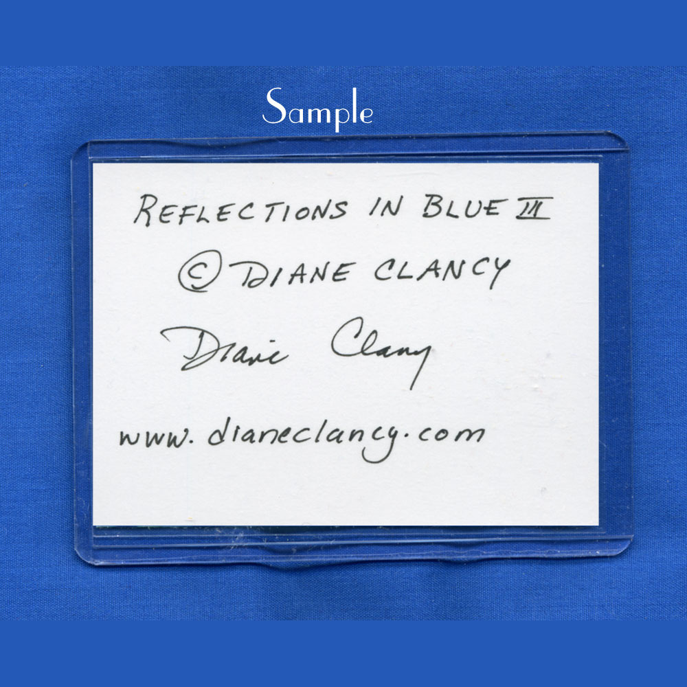 Reflections in Blue I - Art Card, ACEO Edition