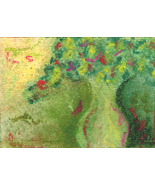 Elegant Green  -  Art Card, Original ACEO - $16.00