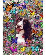 Lady in Butterflies - Art Card, ACEO - $7.00