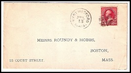 1891 West Medford, MA Discontinued/Defunct Post Office (DPO) Postal Cover - $9.95