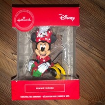 Hallmark Disney Minnie Mouse with Present Christmas Tree Holiday Ornamen... - $18.00