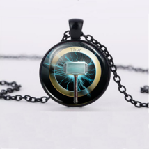 Thor Mallet Hammer Cabochon Necklace >> Combin Shipping << (7179 - $4.21