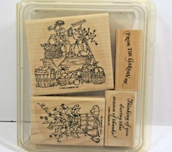 Stampin Up Rubber Stamps 2001 Lot Of 4 Harvest Season Theme - $7.69