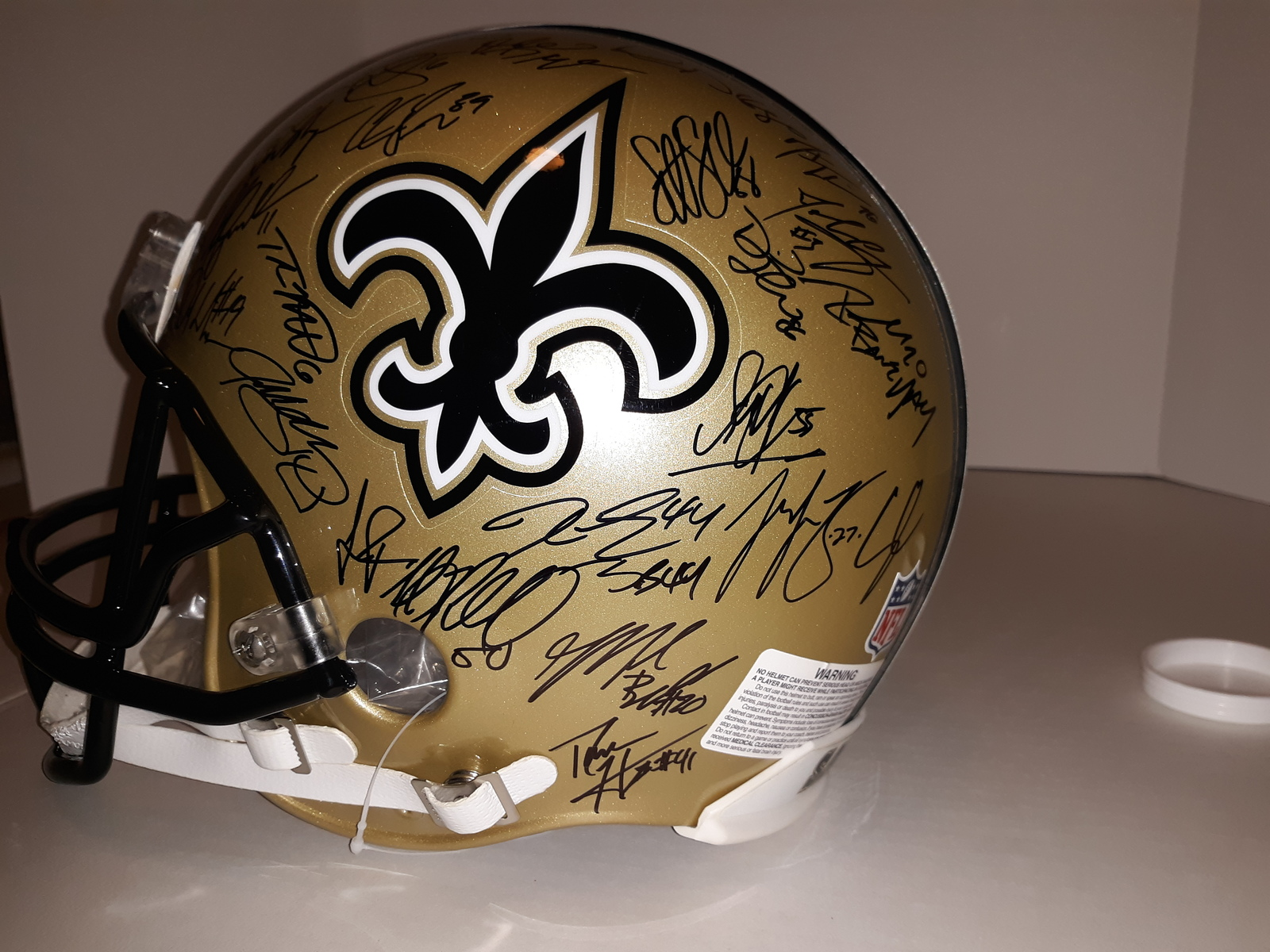 f508cf4eedd New Orleans Saints 2009 Drew Brees Sean Payton Reggie Bush Marques ...