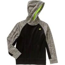 Russell Boys' Tech Fleece Pullover Hoody, Black/Grey, Medium - $13.78