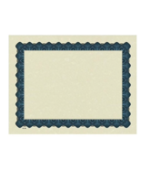 NEW Great Papers Metallic Certificate Diploma Beige Blue Border 100/Pack... - $12.25