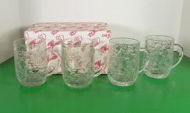 Princess House Crystal FANTASIA Coffee Tea Mug (s) LOT OF 4 Hot Cocoa 51... - $29.65