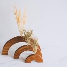 Teak Wood Vase, Handycrafts Vase, Wooden Jar, Handmade Vase - $55.00
