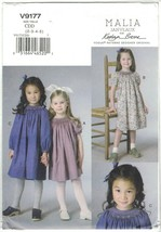 Vogue 9177 Malia Janveaux x Kathryn Brenne Children's Girl's Dress Smock... - $12.99