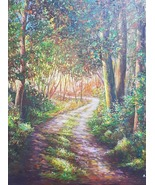 Original painting, acrylic paint on canvas, natural scenery, beauty of forest - $423.00