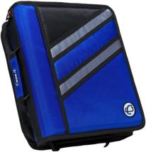 Case-it Zipper Binder 'The Z' Double 1 1/2 D Ring Binder Strap Handle Bl... - $27.88