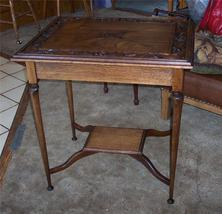 Oak Carved Parlor Table/Lamp Table - $499.00