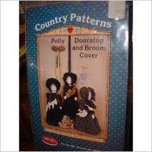 Country Patterns ~ Polly Doorstop n Broom cover pattern set - $13.95