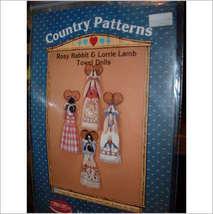 Country patterns Rosie Rabbit & Lorri lamb Towe... - $13.95