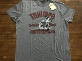 Lucky Brand Triumph World's Best Motorcycle T-Shirt Thin Mens Large NWT ... - $26.59
