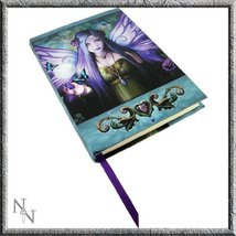 Licensed Anne Stokes Mystic Aura Purple Fairy with Pentagram Embossed Jo... - $18.69